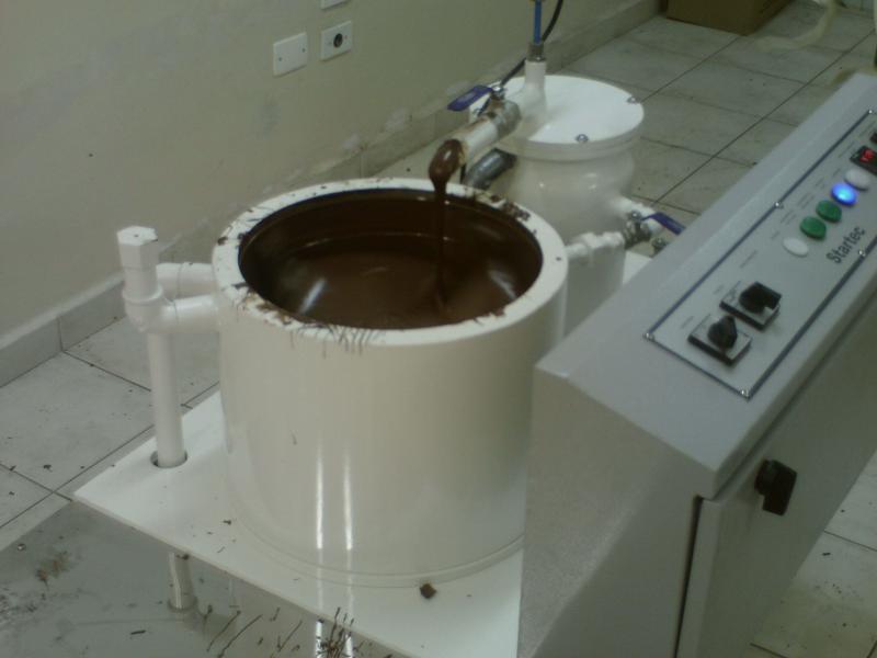 Máquina temperadeiras de chocolate